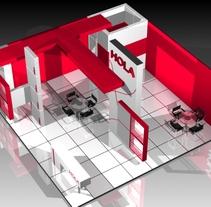 """Proyecto Stand """"HOLA"""" practicando. A Design, Fine Art, Interior Architecture&Interior Design project by Cristii Vs         - 08.04.2018"""