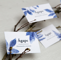 Ágape - alimentación consciente. A Design, Br, ing, Identit, and Graphic Design project by dmentes_estudio         - 23.04.2018
