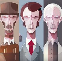Clint Eastwood . Um projeto de Ilustração e Ilustración vectorial de Ricardo Polo López         - 25.04.2018
